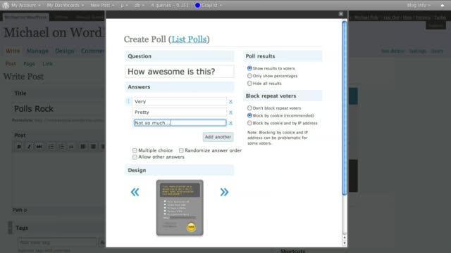 Make a polling blog