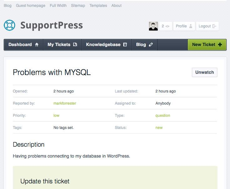 Add a helpdesk to your blog