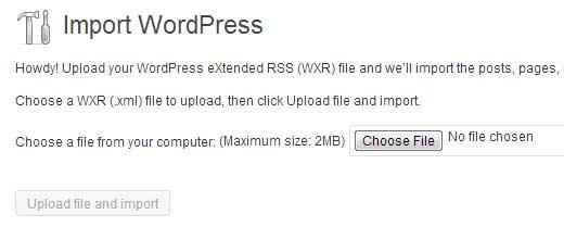 Last step (moving blog form WordPress.com to WordPress.org)