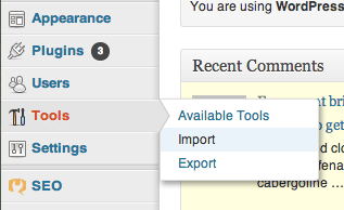 Import your WordPress.com files to WordPress.org