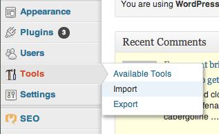 Import your WordPress.com files to WordPress.org