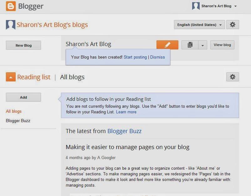 Image of Blogger platform dashboard