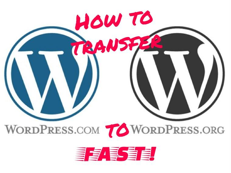 Transfer WordPress.com to WordPress.org