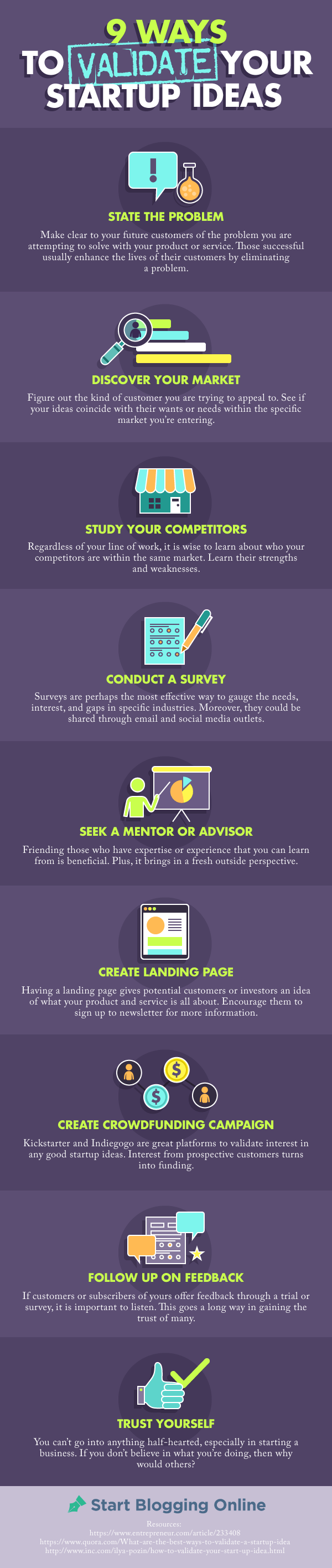 Infographic: 9 Ways to Validate Your Startup Ideas
