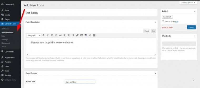 Add WordPress subscribe box