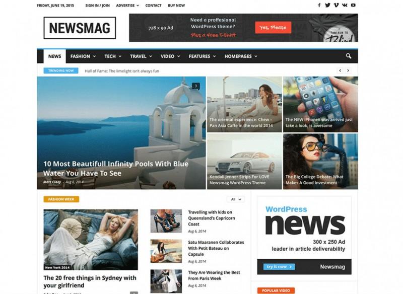 NewsMagWordPress Theme