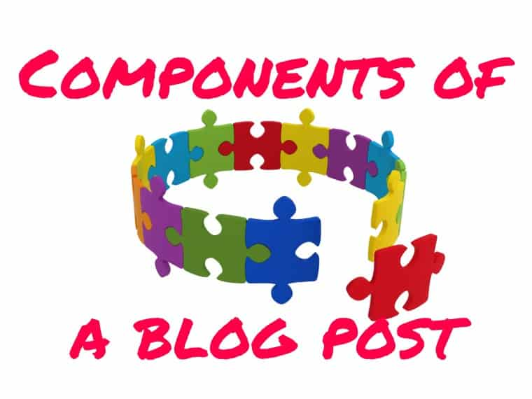 Components of a blog post