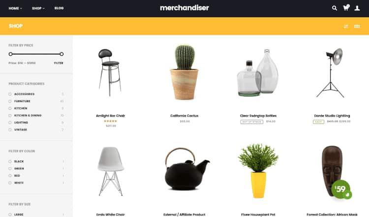 Merchandiser WordPress theme