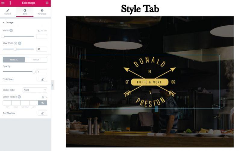 Style tab