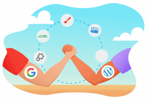 wordpress vs google