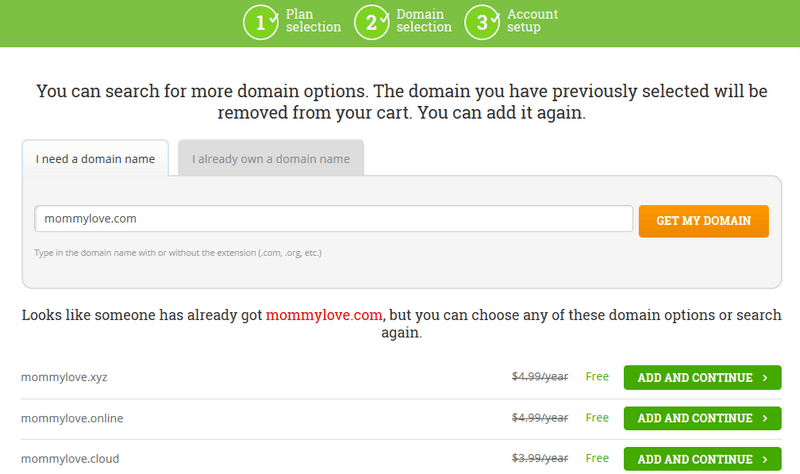 Hostpapa domain already taken