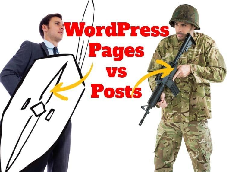 Page vs post WordPress