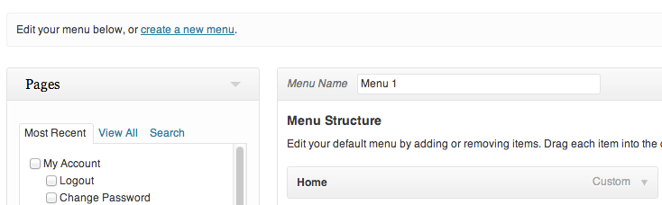 What are menus in WordPress