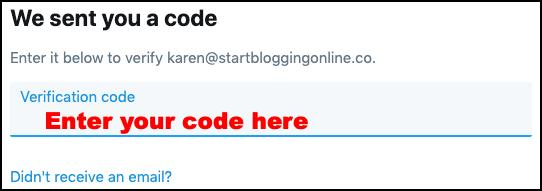 Creating Twitter user account 3