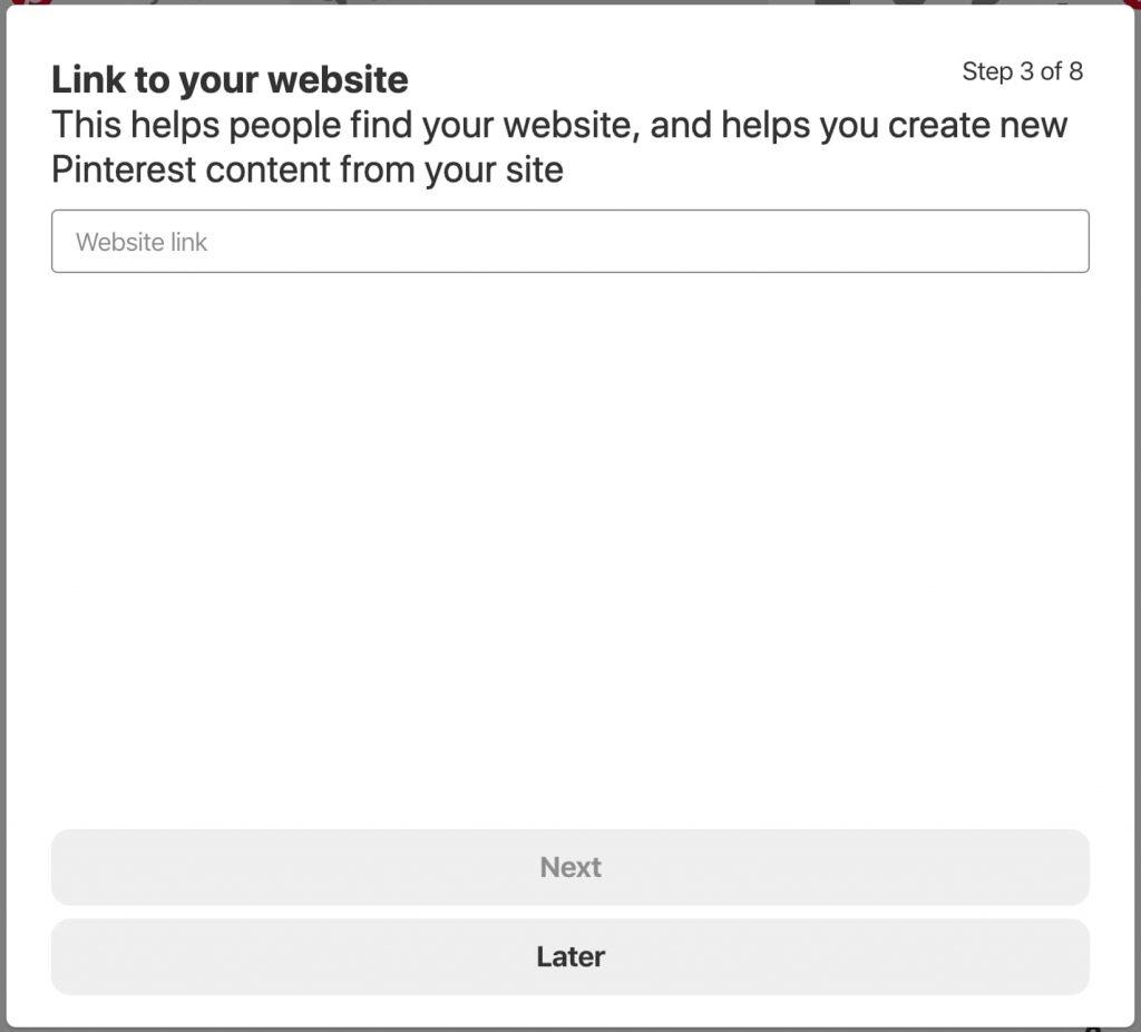 Linking to your website from Pinterest