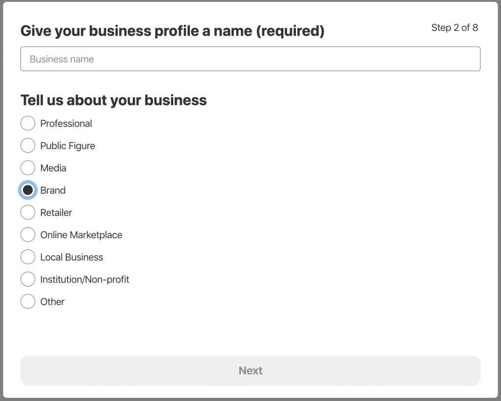 Telling Pinterest about your business