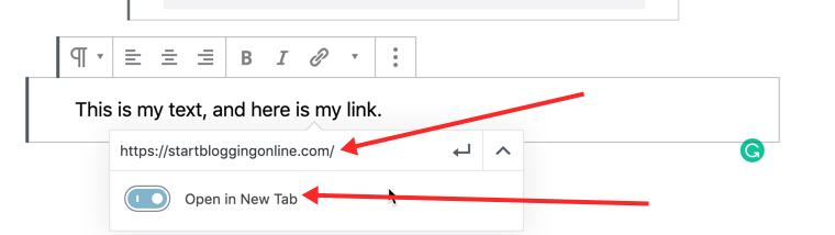 Make links open in new tab
