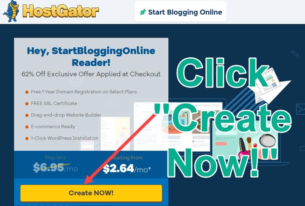 Applying HostGator discount code