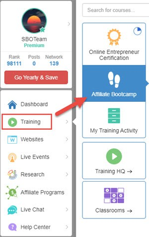Wealthy Affiliate affiliate bootcamp program