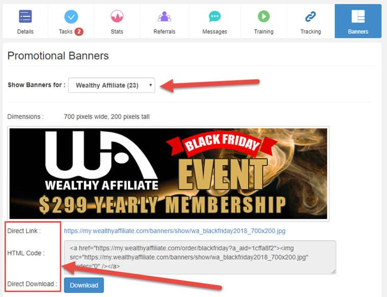 Wealthy Affiliate's affiliate program